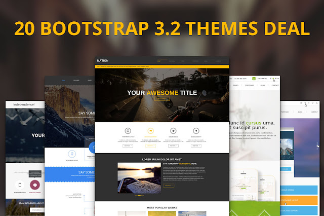 Download 20 Premium Bootstrap Themes 3.2