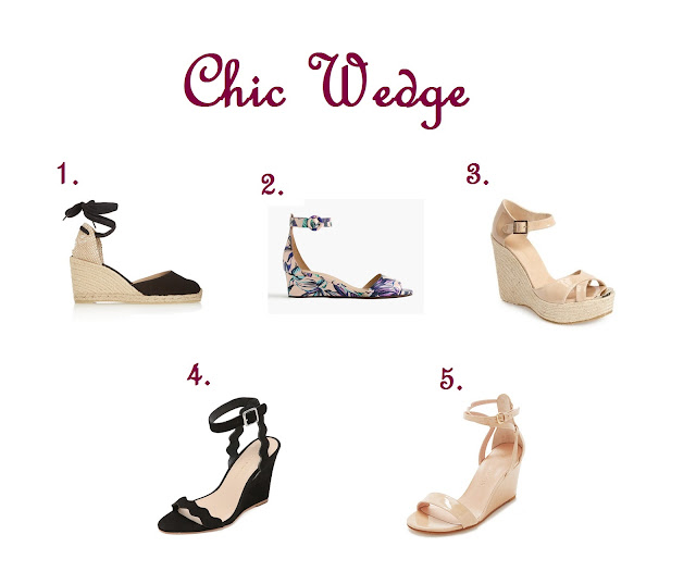 Shoe Essentials : The 5 Styles of Shoes You Should Have in Your Closet Chic Wedge