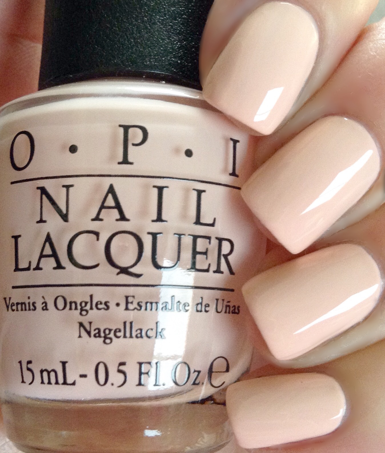 OPI Nail Lacquer, OPI Soft Shades Pastel Collection, One Chic Chick T73 0.5 Fluid Ounce images