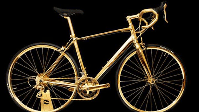 Gold Plated Bicycle by GadgetsCircle.com