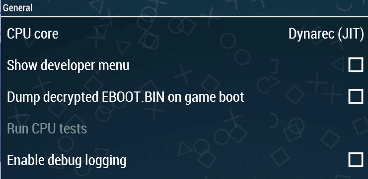 Setting tools ppsspp