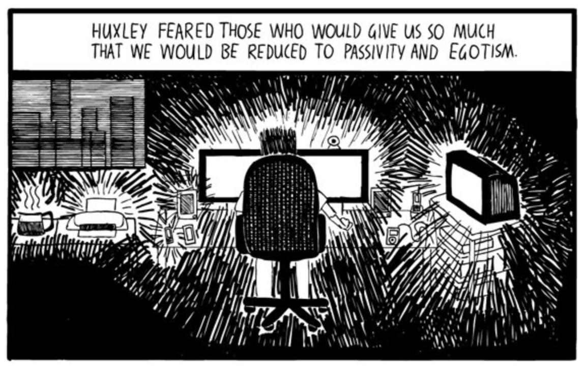orwell and huxley essay Fifty Essays