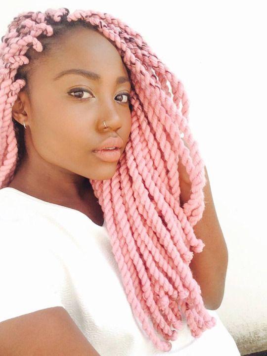 La moda en tu cabello: Trenzas Africanas con pelo suelto