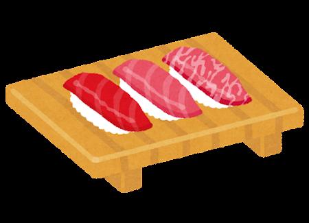 まぐろ寿司セットのイラスト