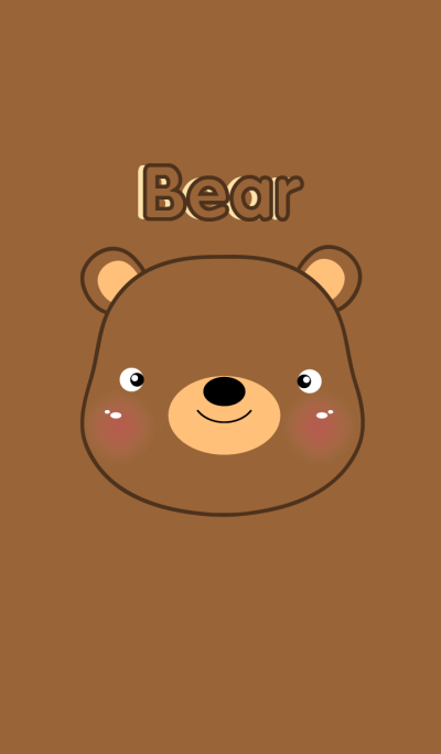 simple I love Cute Bear theme