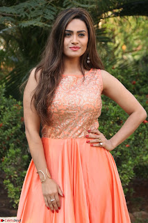 Actress Sakshi in beautiful orange Anarkali Dress Spicy Pics    022.jpg