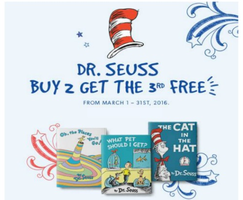 Chapters Indigo Dr.Seuss Buy 2 Books Get 1 Free
