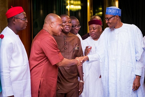 BIAFRA: Igbo Leaders In Closed Door Meeting With Buhari At Aso Rock, See Photos