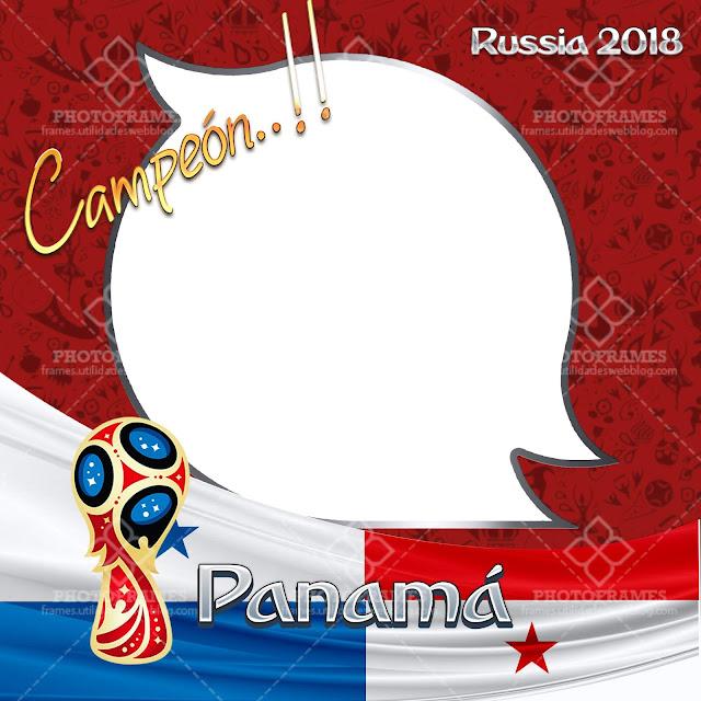 Marco para fotos de Panamá con motivo al mundial de fútbol Rusia 2018