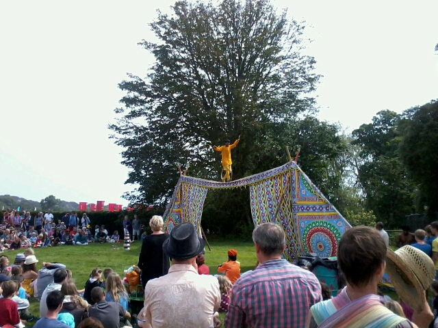 indian tightrope skills at camp bestival