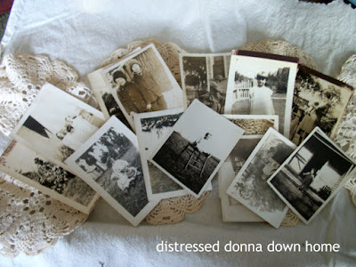 quick project, making photo tags, Magnolia Ridge Antique and Art Gathering