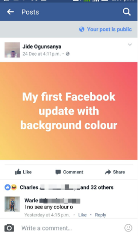 Add Colored Background To Facebook Post