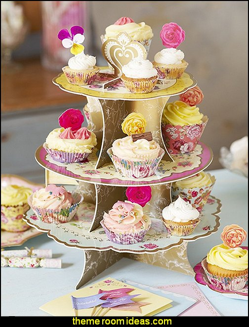 Talking Tables Truly Scrumptious Floral Cake Stand (3 Tier) for a Tea Party