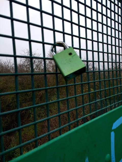 Love Lock, Railway Bridge, The Tins, The Land South of Coldhams Lane, Edgelands, Liminal, Cherry Hinton, Psychogeography
