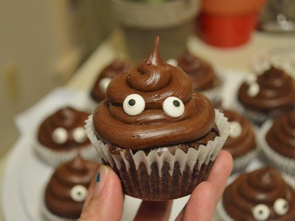 Cute Poop Emoji Cupcakes...Gluten Free!