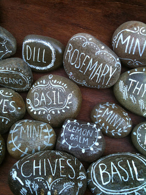 Labeling plants with rocks :: OrganizingMadeFun.com