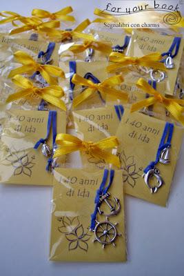 SEGNALIBRI Cordino ciondoli mare regali festa compleanno