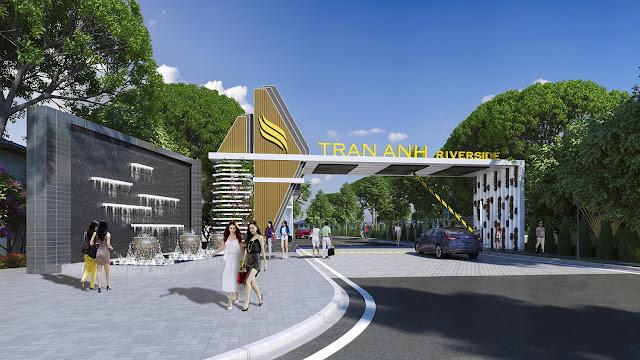 Khu đô thị khép kín Trần Anh Riverside, một trong những dự án nổi bật nhất tại Long An.