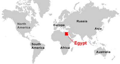 Image: World Map of Egypt