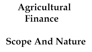 Agricultural Finance Nature and Scope - Download ICAR Ecourse PDF BOOK at E Krishi Shiksha