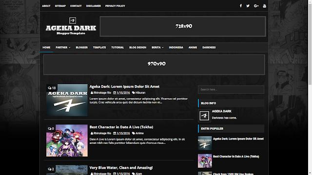 Ageka Dark - Template dành cho các bạn thích treo nhiều quảng cáo