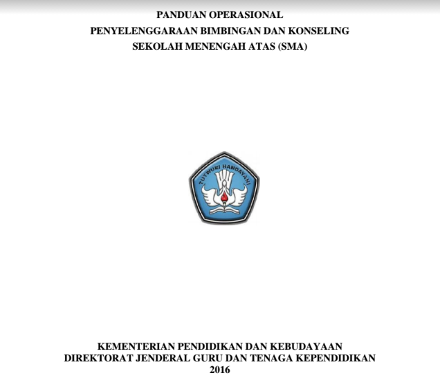 Download Panduan BK SMA 2016 Revisi Final DITJEN GTK