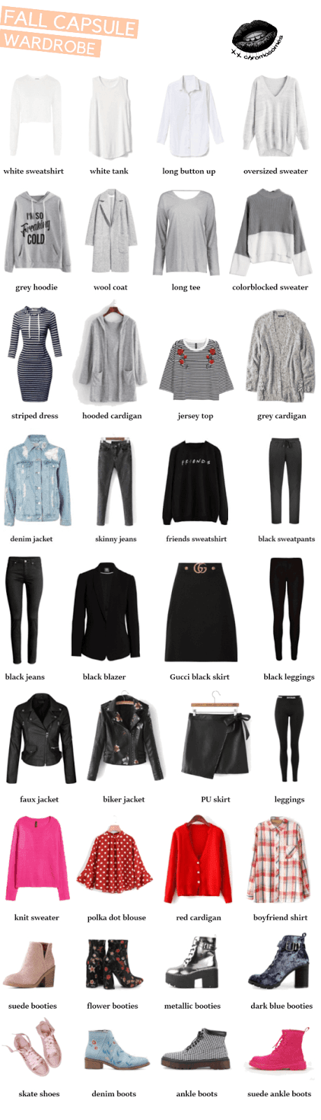 Our Capsule Wardrobe - Fall - 2017