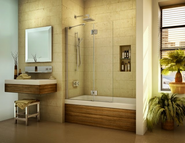 Small Bathrooms With Tub And Shower Set