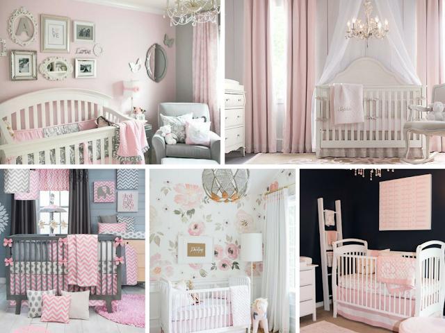 Quartos de bebé menina em cor-de-rosa