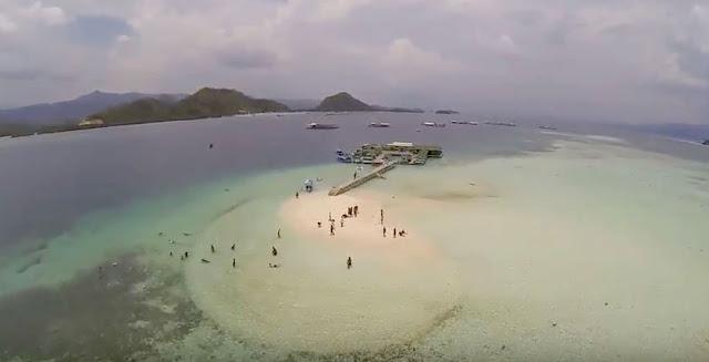 pasir timbul di pantai sari ringgung