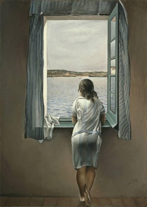 Mulher na janela em figueras, pintura de Salvador Dali.