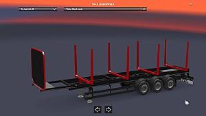 Empty Log trailer
