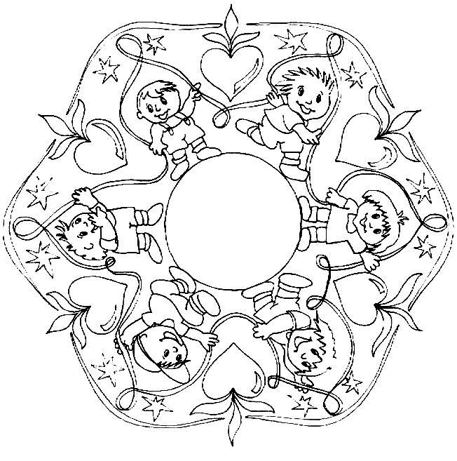 Mandalas para pintar - Mandala carnaval ...