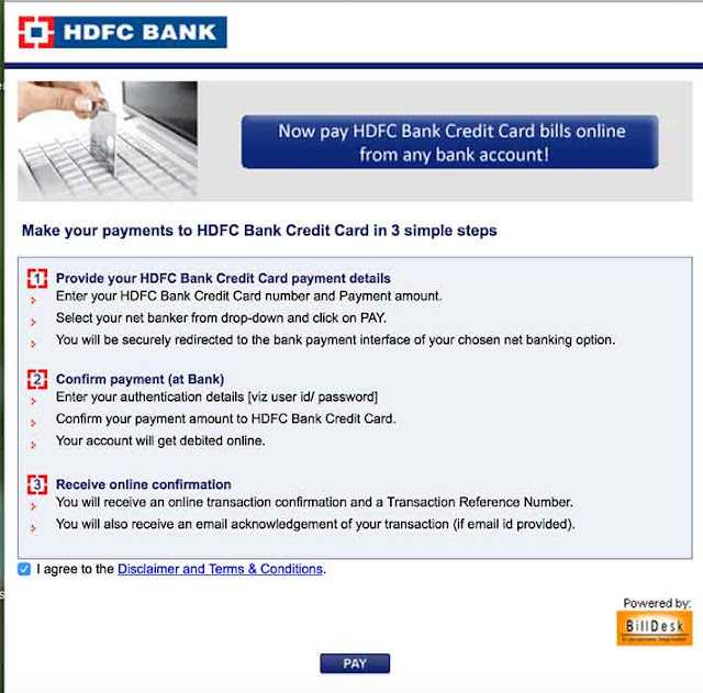 Transfer Money to HDFC Credit card