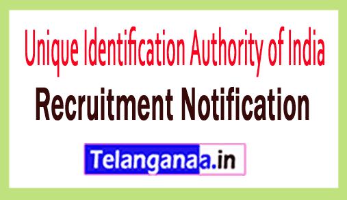 Unique Identification Authority of India UIDAI Rrcruitment