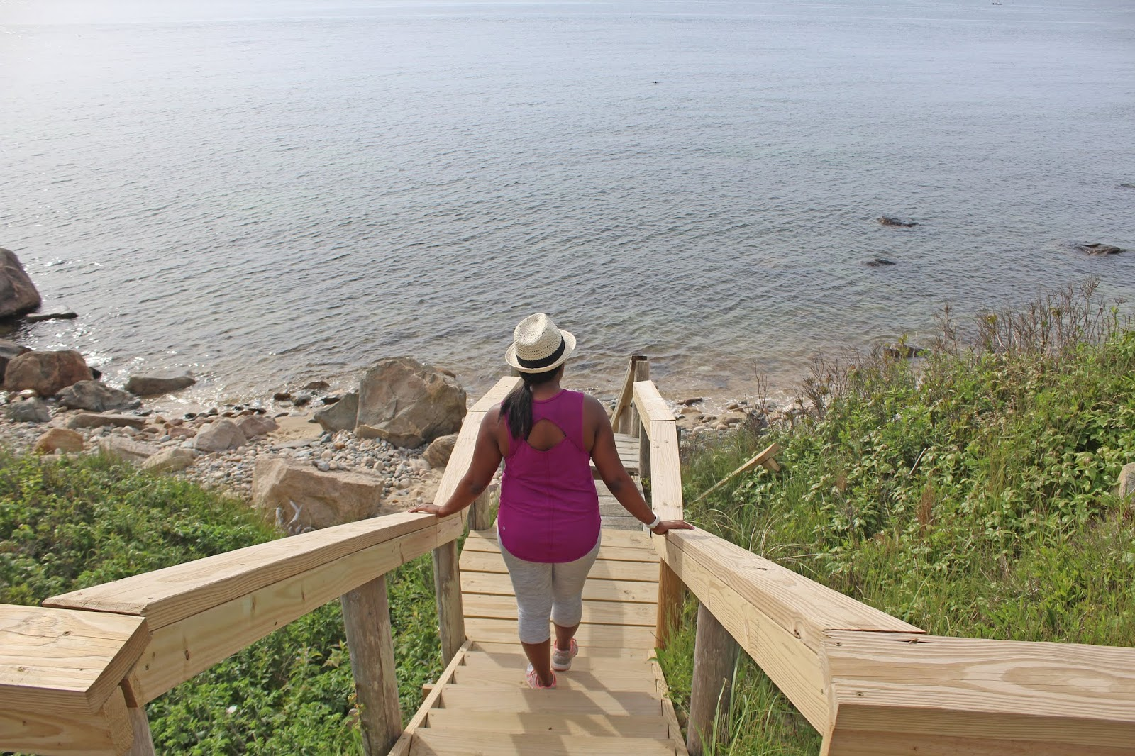 hiking to a secluded beach 5