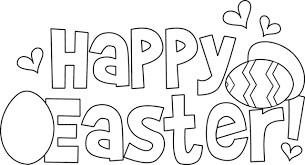 Happy Easter Simple coloring pages