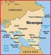 Peta Negara Nikaragua
