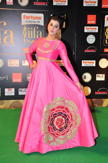 Nikki Galrani in Floor Length Anarkali IIFA Utsavam Awards 2016