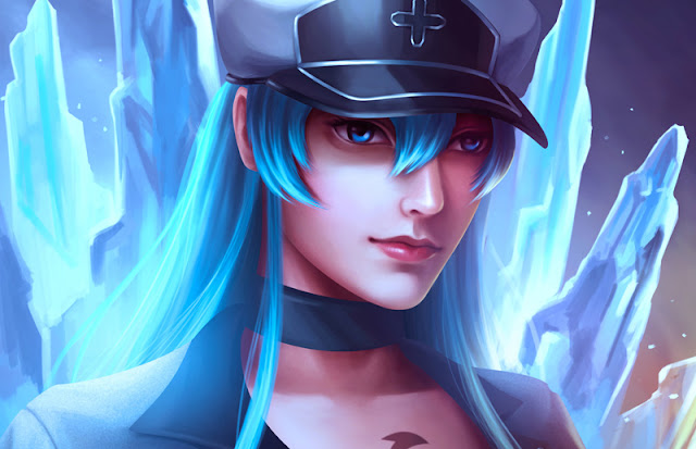 esdeath, fanart, esdeath fanart, ryan mahendra, illustration, digital painting