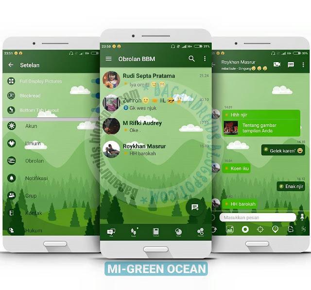 BBM Mod Mi Green Ocean Latest v3.2.5.12 Apk