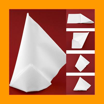 Ein einfacher Hut aus einer Papierserviette