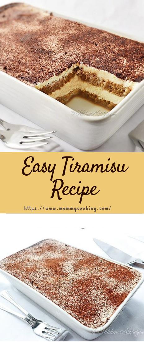 Easy Tiramisu Recipe #desserts #easyreipe