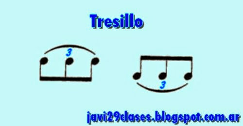 tresillo, grupo de tres figuras