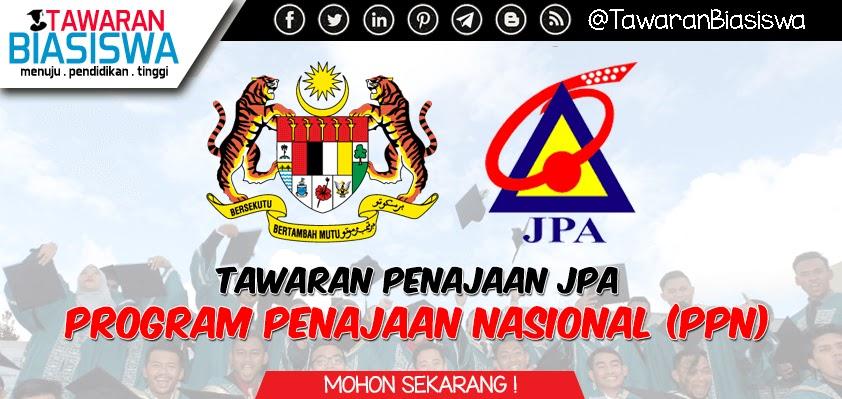 Biasiswa JPA - Program Penajaan Nasional (PPN) Peringkat Persediaan dan Ijazah Pertama