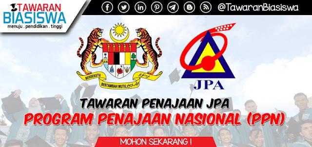 Biasiswa JPA - Program Penajaan Nasional (PPN) Peringkat Persediaan dan Ijazah Pertama 2020