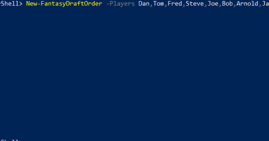 Use PowerShell to create your Fantasy Football Draft order