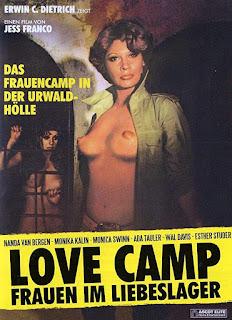 affiche de CAMP D'AMOUR POUR MERCENAIRES, WIP de Jess Franco avec Monica Swinn