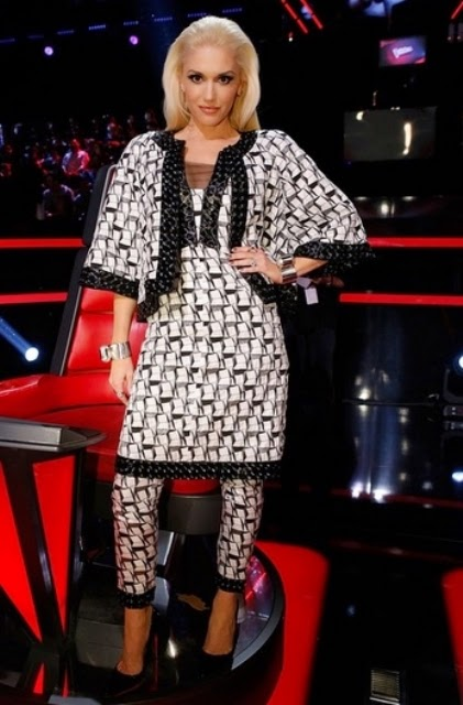 The gallery for --> Gwen Stefani The Voice Outfit