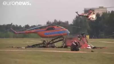 فيديو مروع لتحطم طائرة ومصرع قائديها